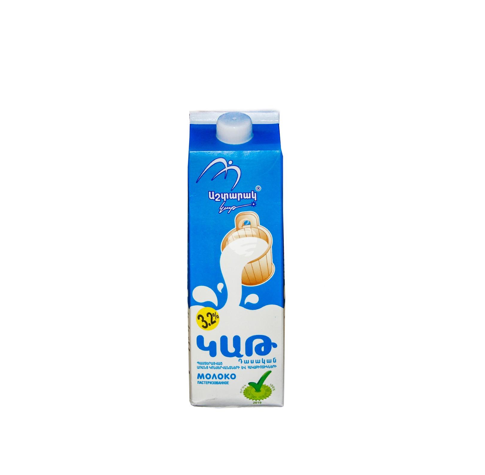 """Կաթ """"Աշտարակ կաթ"""" 1լ 3.2%"""