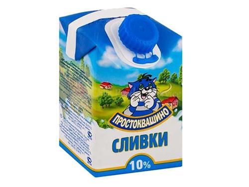 """Սերուցք """"Простоквашино"""" 10% 0,3լ"""